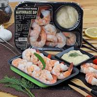 Cooked Peeled Prawns with Mayo Dip 200g