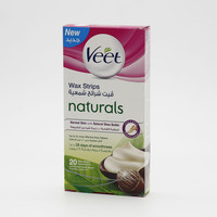 Veet Wax Strips With Shea Butter For Normal Skin 20 Pieces