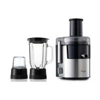 Panasonic Juicer MJ-DJ31STN Three-In-One 800 Watt Silver