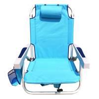 Aluminium Folding Beach Chair Blue 61.5X63X78.5cm