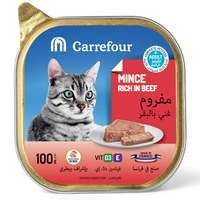Carrefour Adult Cat Mince Rich in Beef 100g