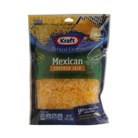 Kraft Natural Cheese Mexican Style Cheddar Jack 226g