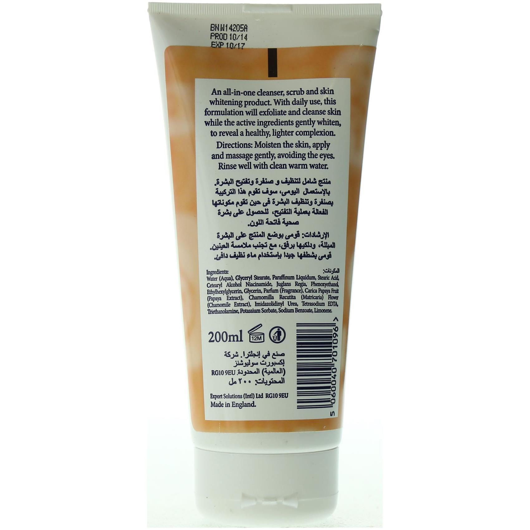BIOSKINCARE SCRUB TUBE-PAPAYA 200ML