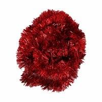Christmas Tinsel Garland 5 Cm Red