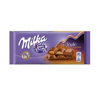 Milka Triple Caramel Chocolate Bar 90GR