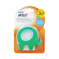 Philips Avent Teether -Green Elephant 3 Months+