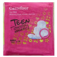 Carrefour Pads Teen Cotton Sensation Ultra Thin x14