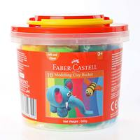 Faber-Castell 10Modeling Clay 500G Plastic Bucket