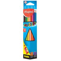 Maped Triangle 12 Colors Pencils+Sharpener
