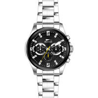 Slazenger Men's Multifunction Display Black Dial Silver Stainless Steel Bracelet - SL.9.6023.2.01