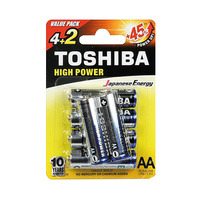 Toshiba Blue High Power Type AA Alkaline 4+2 Free