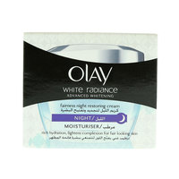 Olay White Radiance Moisturizer Fairness Night Restoring Cream 50G