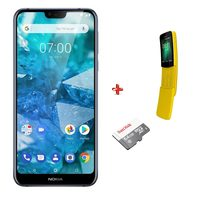 Nokia 7.1 Dual Sim 4G 32GB Blue + Nokia 8110 Dual Sim 4G 4GB + Micro SD 64GB