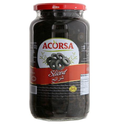 Acorsa-Sliced-Black-Olives-950g