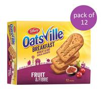Tiffany Oatsville Breakfast Fruit & Fibre Biscuits 50gx12