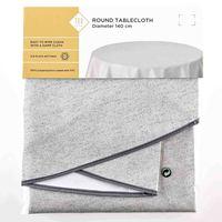 TEX Table Cloth Round 140 Grey
