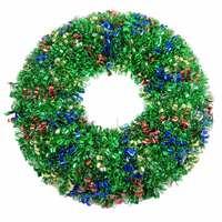 Wreath Tinsel Deco Shiny Multicolor 40Cm