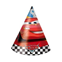 Disney Cars RSN Cone Shaped Birthday Party Hats 6 Pieces