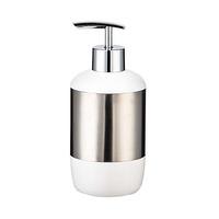 Primanova Lima Liquid Soap Dispenser White And Silver