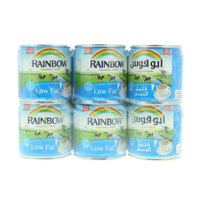 Rainbow Low Fat Evaporated Semi Skimmed Milk (6x158ml)