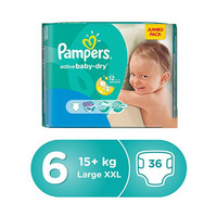 Pampers Diapers Premium Size 6 Mega Pack XL 36 Pieces -10%