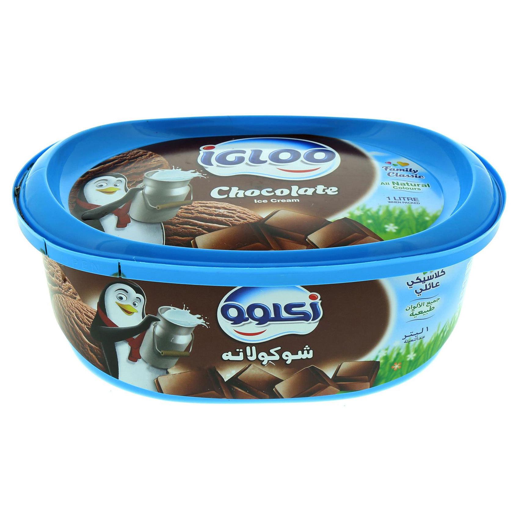 IGLOO ICE CREAM CHOCOLATE 1L