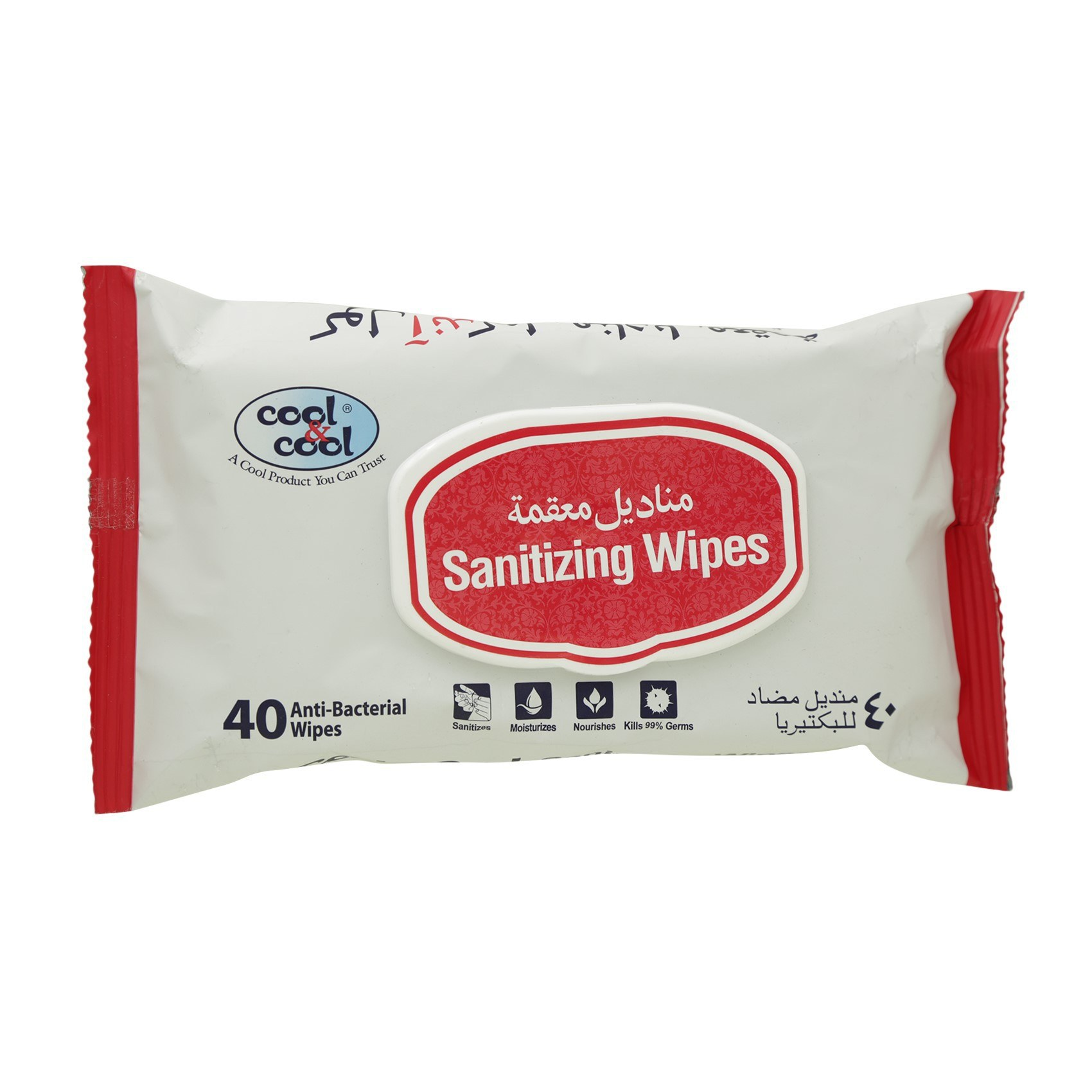 COOL&COOL - SANITIZING WIPES 40'S