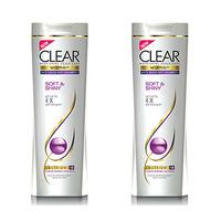Clear Shampoo Soft & Shiny 2X360ML -25% Off
