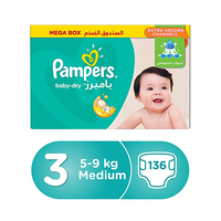 Pampers Diapers Mega Box Size 3 136 Pieces