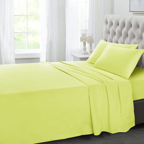 Tendanceu0027s Flat Sheet King Mustard 275X260