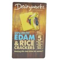 Dairyworks edam cheese & rice crackers  50 g
