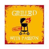 Grill With Passion Orange 33X33 P7843