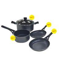 بايركس جوستو طقم طبخ 5 قطع لون أسود