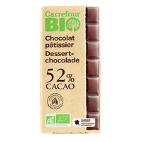 Carrefour Bio Organic Cooking Chocolate 52% Cocoa 200g