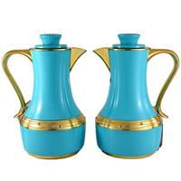 Flask Blue & Gold 0.7L 2Pcs