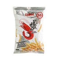 Calbee Prawn Crackers Black Pepper 70g