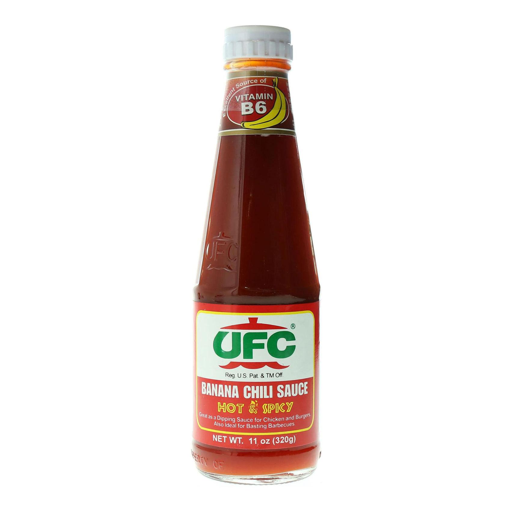 UFC BANANA SAUCE HOT&SPICY 320G