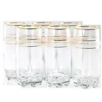 Lav Adora Long Glass Gold Rim 6Pcs 39Cl