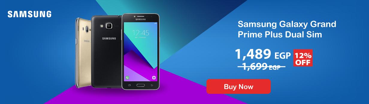Samsung Galaxy Grand Prime Plus Dual Sim - 8GB, 1.5GB RAM, 4G LTE - Gold