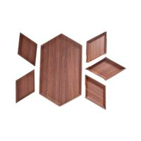 Evelin Wood Dish Set 6 Pieces