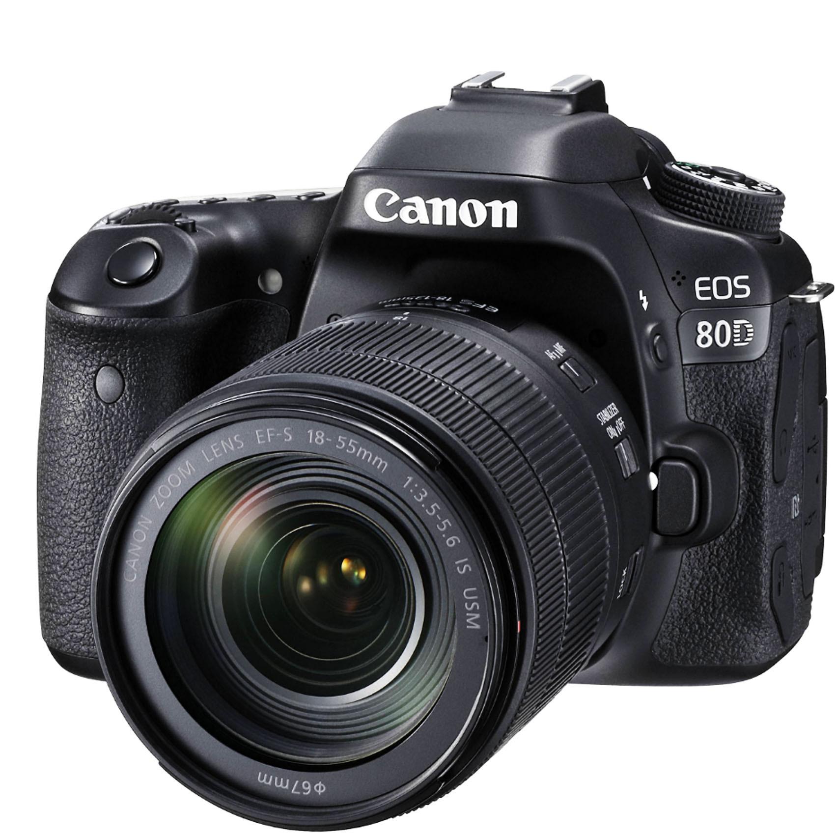 CANON SLR EOS80D 18-55IS STM+16G+CS