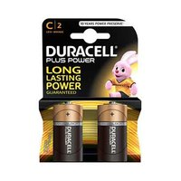 Duracell Plus Power Type C  Alkaline Battery X2