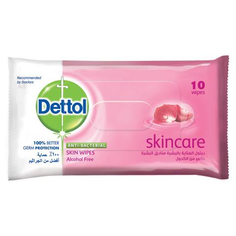 Dettol-Skincare-Antibacterial-Skin-Wipes-10's
