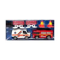 Teamsterz Die Caste Rescue Team Ambulance & Fire Truck Toy For Kids Boys Girls