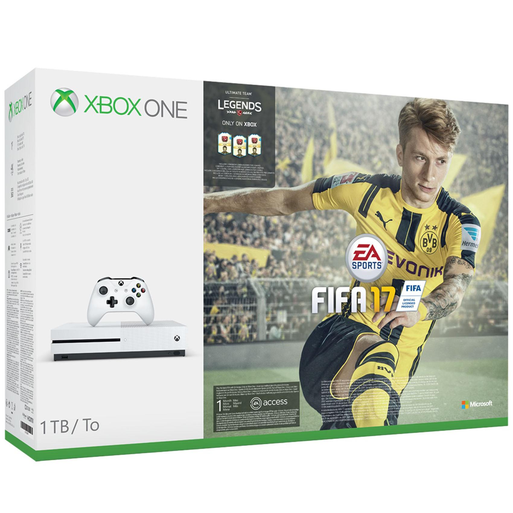MICROSOFT XB1 S 1TB+FIFA 17+3ML