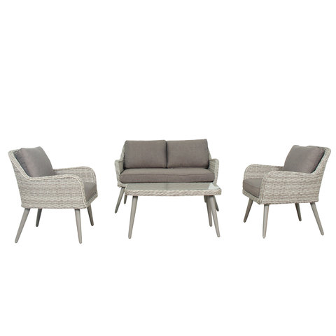 2c33a7cd9 Buy Lydia Wicker Sofa Set 4Pcs With Cushions Online - Shop outdoor furniture  and sets on Carrefour UAE