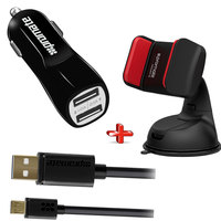 Promate Car Kit (Car Charger Car Holder & HM 2USB Cable
