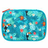 Delsey School 2018 Large Pencil Box Turquoise Tropical