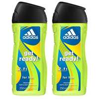Adidas Get Ready Shower Gel 250 Ml 2 Pieces
