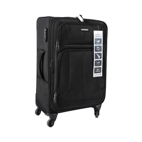 10d2f5155 اشترى ترافل هاوس حقيبة سفر خامة ناعمة 4 عجلات مقاس 24 انش لون أسود ...